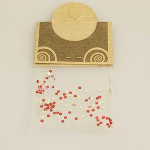 Brillantino Natural Collection rotondo piccolo rosso bustina
