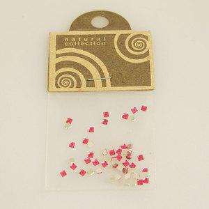 Brillantino quadrato rosa scuro Natural Collection bustina