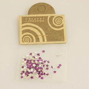 Brillantino stella viola Natural Collection bustina