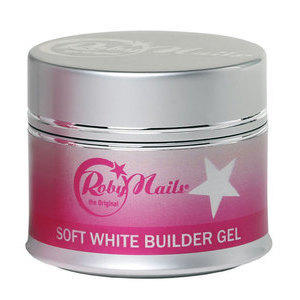 Soft White Builder Gel 15 ml Roby Nails