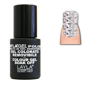 LaylaGel Polish Gel Colorato nr 109 Crazy Purple Top Coat 10 ml