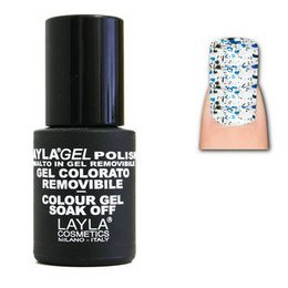 LaylaGel Polish Gel Colorato nr 110 Crazy Blue Top Coat 10 ml