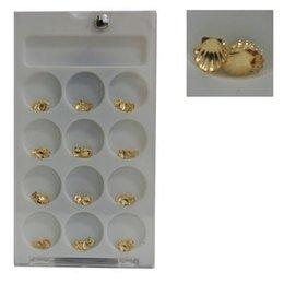 Decoro unghie Beauty nail Conchiglia Grande Oro ASN1