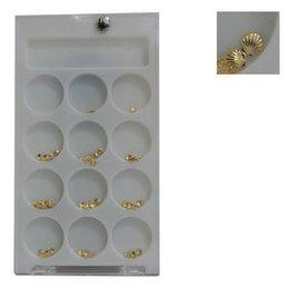 Decoro unghie Beauty nail Conchiglia Piccola Oro ASN2