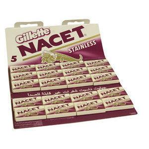 Lamette Gillette Nacet Stainless stecca 20 pacchetti da 5 lame