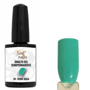 TN Smalto Gel Semipermanente nr. 34 Verde Aqua 14 ml.