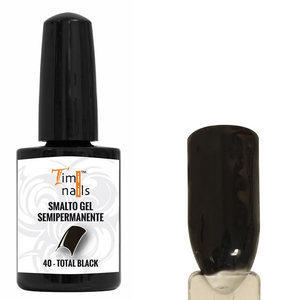 TN Smalto Gel Semipermanente nr. 40 Total Black 14 ml.