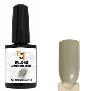 TN Smalto Gel Semipermanente nr. 42 Magnetic Silver 14 ml.