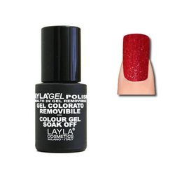 LaylaGel Polish Gel Colorato nr 129 Designer Red 10 ml