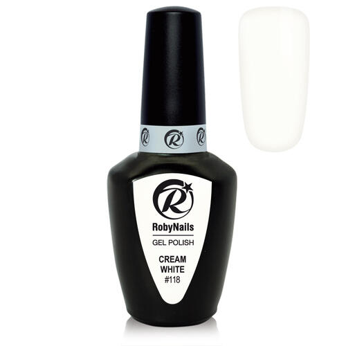 Gel Polish 118 Cream White Roby Nails 8 ml