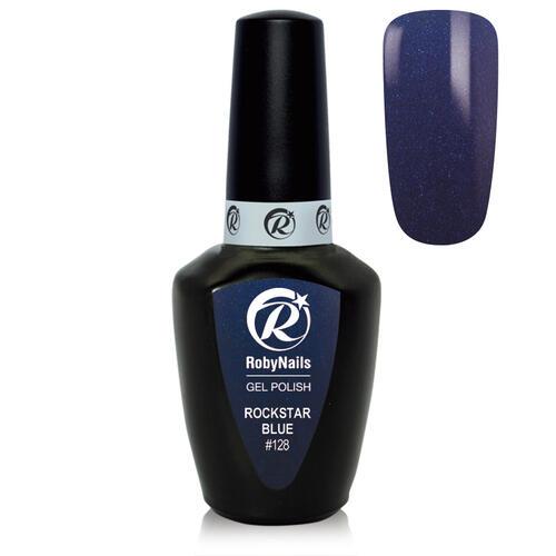 Gel Polish 128 Rockstar Blue Roby Nails 8 ml