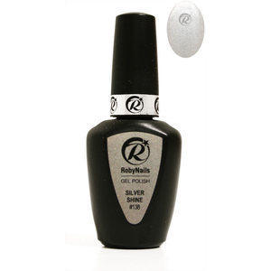 Gel Polish 138 Silver Shine Roby Nails 8 ml