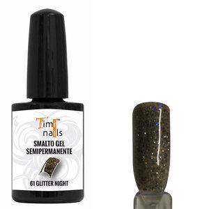 TN Smalto Gel Semipermanente nr. 61 Glitter Night 14 ml.
