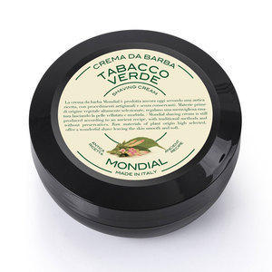 Mondial Crema da barba Tabacco verde in versione travel vasetto 75 ml