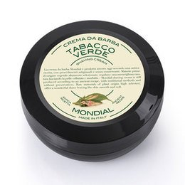 Mondial Crema da barba Tabacco verde in versione travel vasetto 75 ml