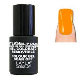 LaylaGel Polish Gel Colorato nr 136 Fluo Orange 10 ml