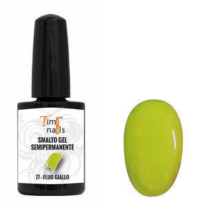 TN Smalto Gel Semipermanente nr. 77 Fluo Giallo 14 ml.