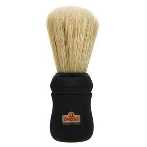 Pennello da Barba professionale Omega manico nero 49