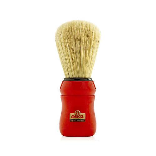 Pennello da barba professionale in pura setola Omega 10049 manico rosso