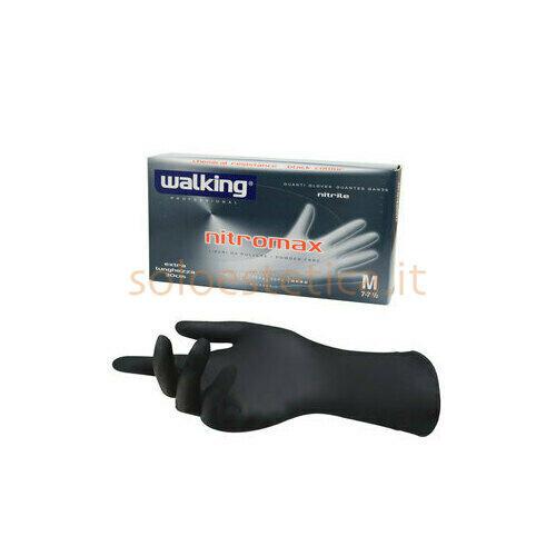 Guanti Nitromax Walking senza polvere misura Media 50 pz.