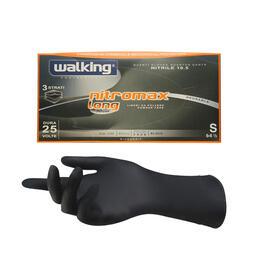 Guanti Nitromax Walking senza polvere misura Small 50 pz.
