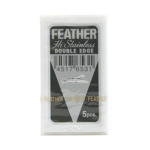 Lama Feather Double Edge Hi Stainless 1 pacchetto da 5 lame