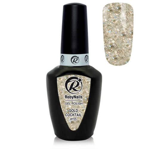 Gel Polish 155 Gold Cocktail Roby Nails 8 ml