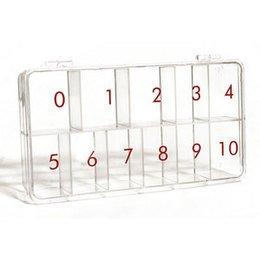 Box Portatip Trasparente con numeri.