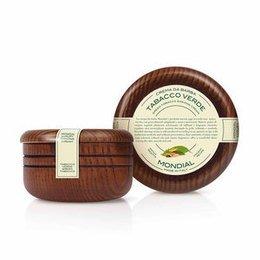 Mondial Crema da Barba Ciotola Legno Tabacco Verde 150 ml
