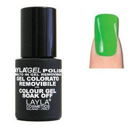 LaylaGel Polish Gel Colorato nr 135 Flash My Green 10 ml