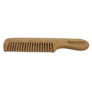 Pettine Legno per barba con manico Quebarba