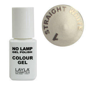 No Lamp Colour Gel nr 1 Straight White Layla 10 ml