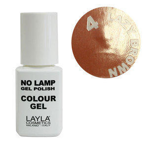 No Lamp Colour Gel nr 4 Lazy Brown Layla 10 ml
