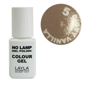 No Lamp Colour Gel nr 5 Dirty Vanilla Layla 10 ml