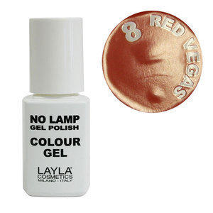 No Lamp Colour Gel nr 8 Red Vegas Layla 10 ml