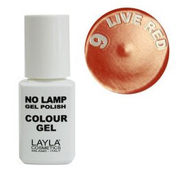 No Lamp Colour Gel nr 9 Live Red Layla 10 ml