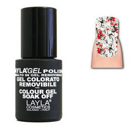 LaylaGel Polish Gel Colorato nr 108 Crazy Red Top Coat 10 ml