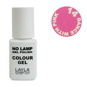 No Lamp Colour Gel nr 14 Dance With Pink Layla 10 ml