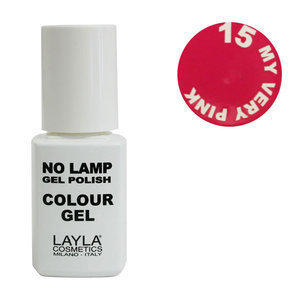 No Lamp Colour Gel nr 15 My Very Pink Layla 10 ml