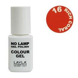 No Lamp Colour Gel nr 16 Rich Coral Layla 10 ml