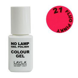 No Lamp Colour Gel nr 21 Fluo Pinky Layla 10 ml