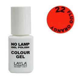 No Lamp Colour Gel nr 22 Fluo Orangy Layla 10 ml