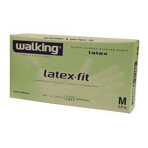 Guanti Latex Fit Walking in puro lattice Media 100 pz.