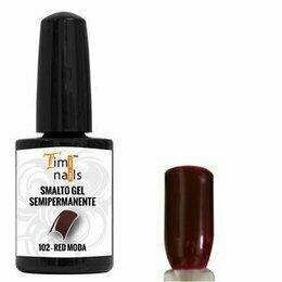 TN Smalto Gel Semipermanente nr. 102 Red Moda 14 ml.
