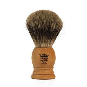 Pennello da Barba Sforza XL Estas in Tasso e Manico in Legno