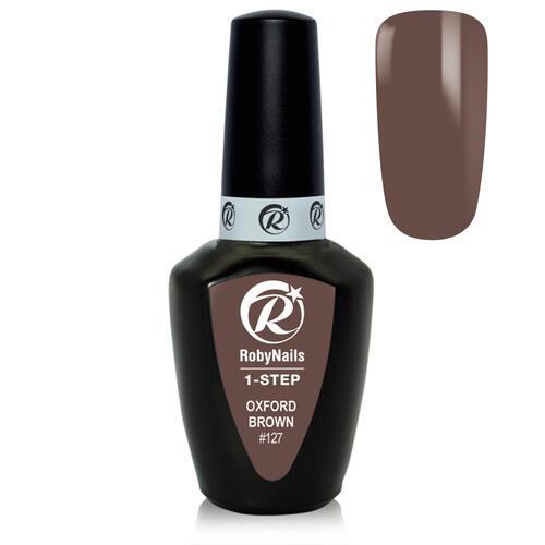 Smalto Semipermanente 1-Step Gel Polish #127 Oxf. Brown Roby Nails 8 ml