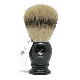 Muhle Pennello da Barba Silvertip Fibres (Sintetico) Manico Nero 35K256