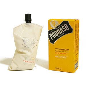 Crema da Rasatura Wood and Spice Proraso vescica 275 ml.