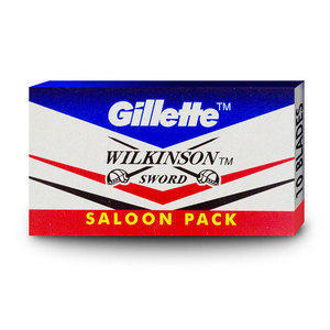 Lamette da Barba Gillette Wilkinson Saloon pc. 10 lame