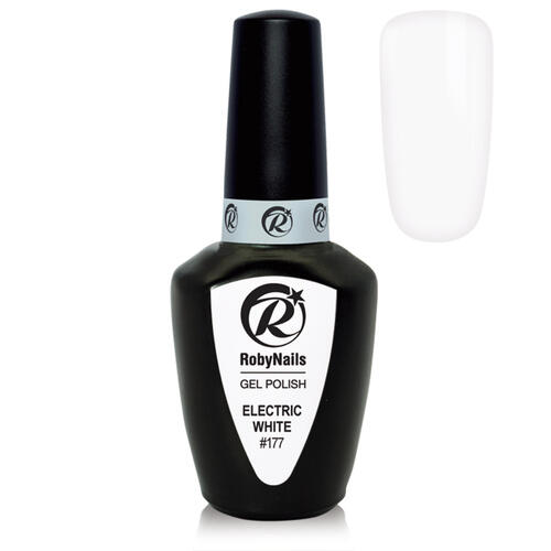 Gel Polish 177 Electric White Roby Nails 8 ml